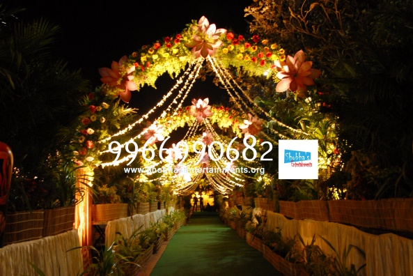 Reception decorations,engagement decorators, sangeet ceremony organizers , wedding flower decorations and event organizers in Hyderabad (57)