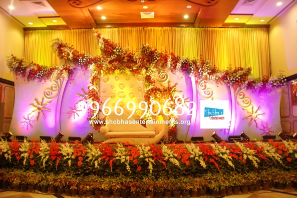 Reception decorations,engagement decorators, sangeet ceremony organizers , wedding flower decorations and event organizers in Hyderabad (68)