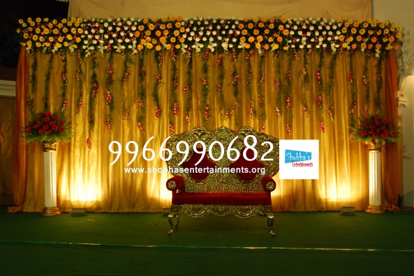 Reception decorations,engagement decorators, sangeet ceremony organizers , wedding flower decorations and event organizers in Hyderabad (69)