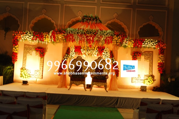 Reception decorations,engagement decorators, sangeet ceremony organizers , wedding flower decorations and event organizers in Hyderabad (70)