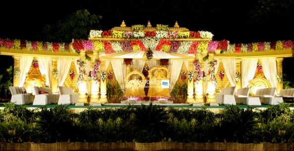 wedding stage flower and reception stage decorations in hyderabad (112)