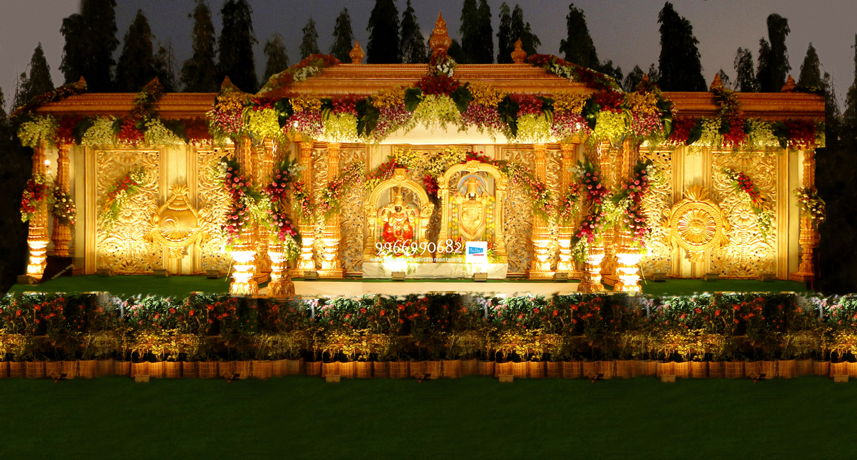 wedding stage flower and reception stage decorations in hyderabad ...