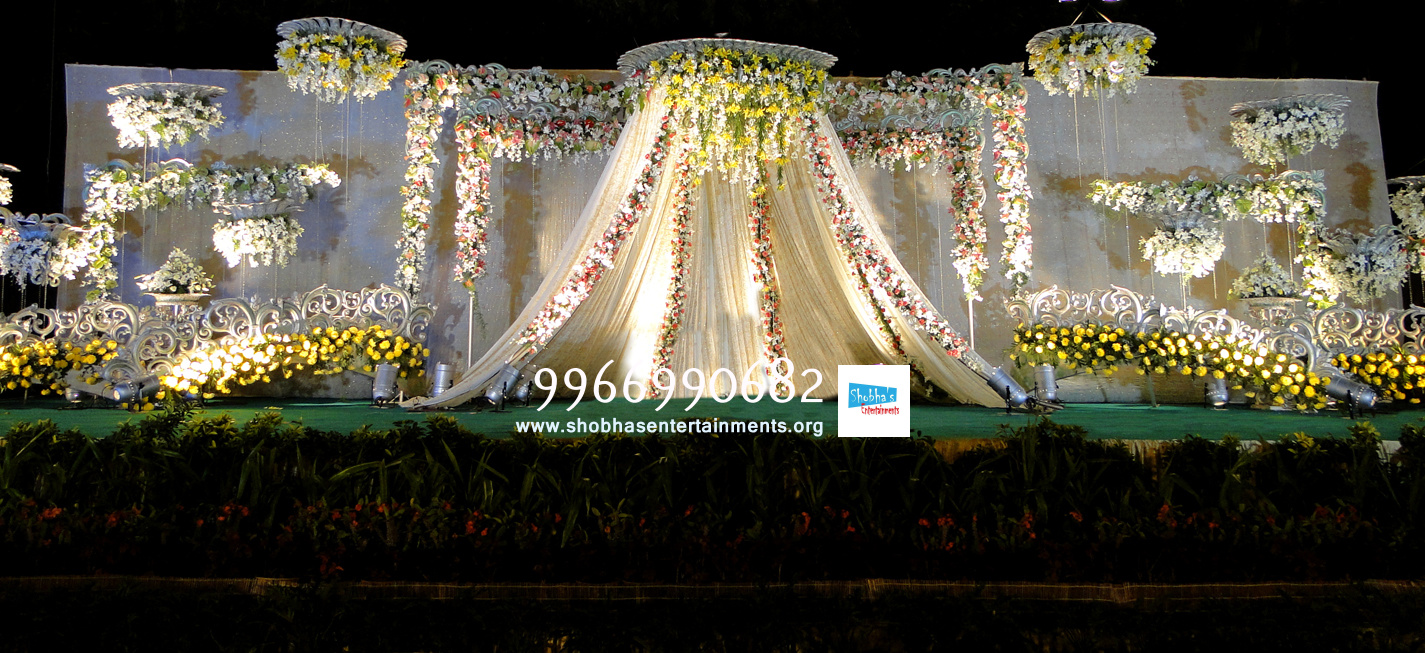 Reception stage flower sets decoration in hyderabad shobhas reception stage flower sets decoration in hyderabad wedding stage flower decorators in hyderababd junglespirit Choice Image