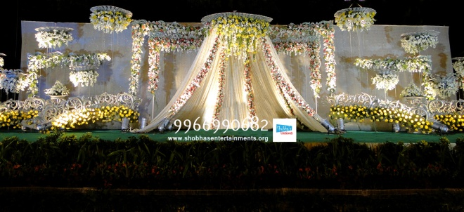 Wedding And Reception Stage Flower Decorators In Hyderabad