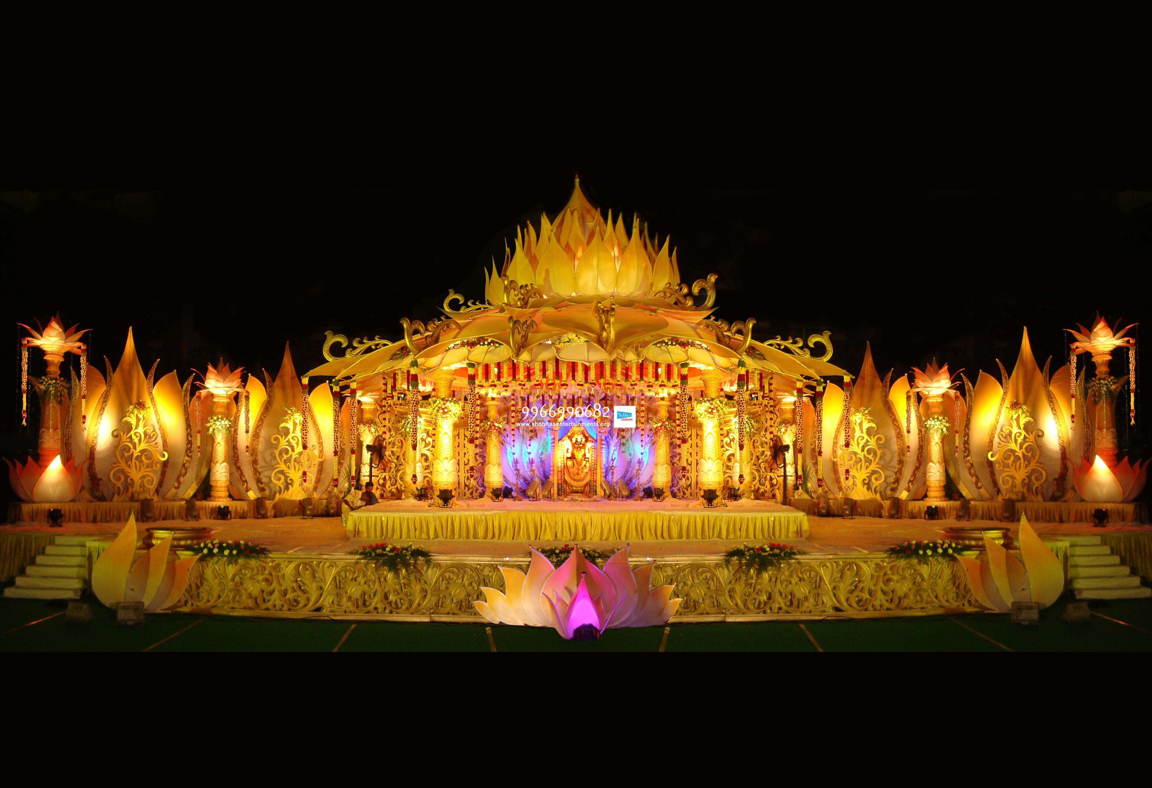 marriage mandap stage flower decorations in hyderababd ...