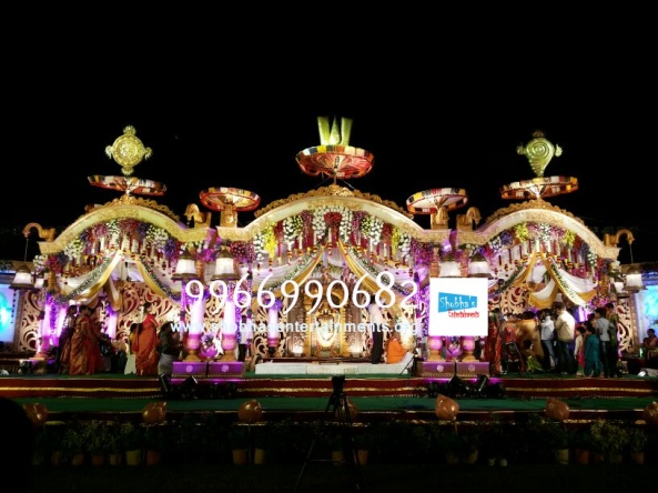 wedding stage flower and reception stage decorations in hyderabad (115)