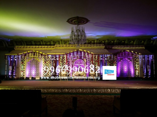 wedding stage flower and reception stage decorations in hyderabad (117)