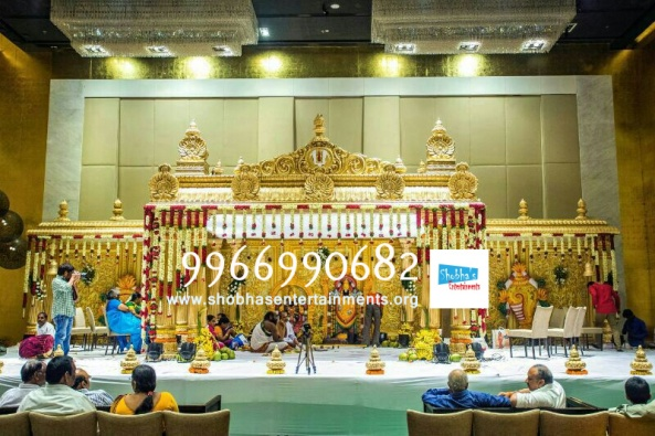 wedding stage flower and reception stage decorations in hyderabad (119)