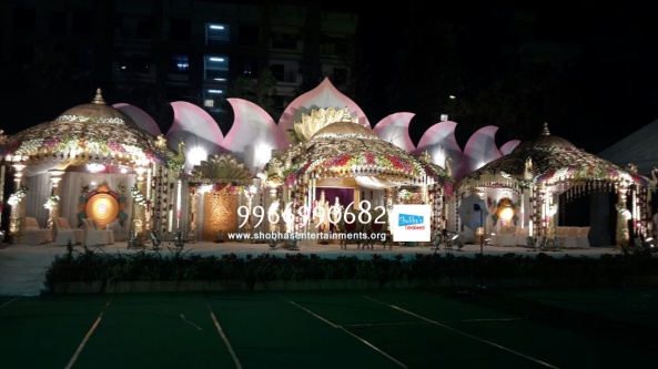 wedding stage flower and reception stage decorations in hyderabad (120)