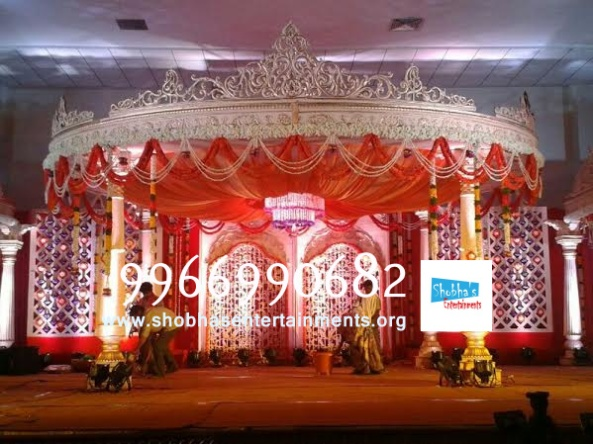 wedding stage flower and reception stage decorations in hyderabad (123)