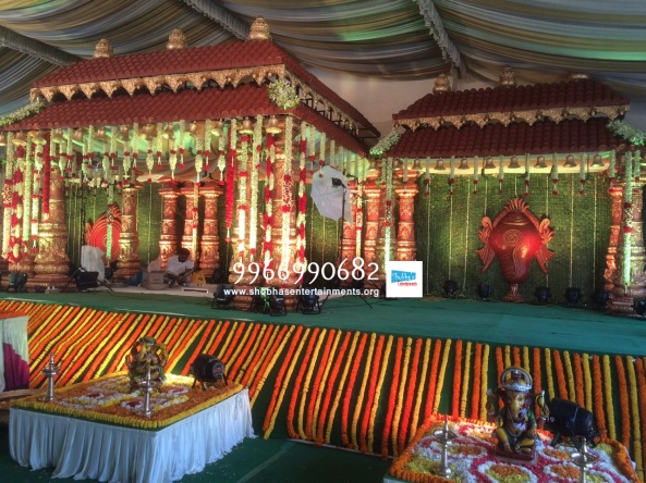 wedding stage flower and reception stage decorations in hyderabad (129)