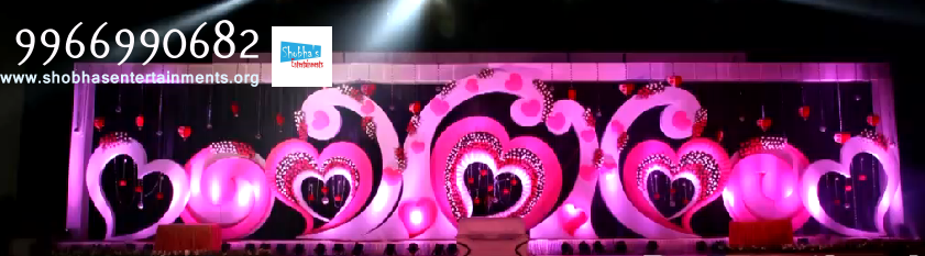 Wedding and reception decorators in hyderabad shobhas entertainments reception sangeet and engagement stage decorators in hyderabad junglespirit Choice Image