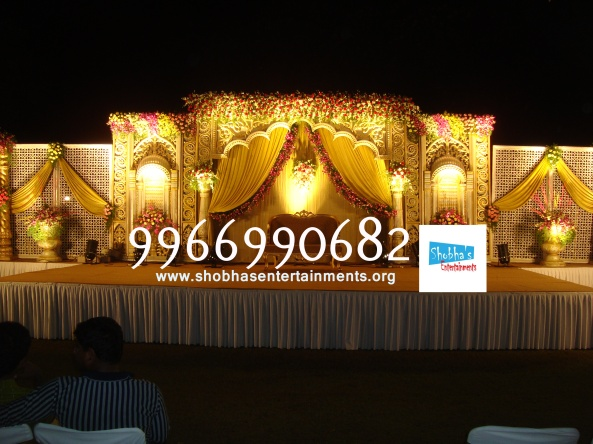 Reception decorations,engagement decorators, sangeet ceremony organizers , wedding flower decorations and event organizers in Hyderabad (83)