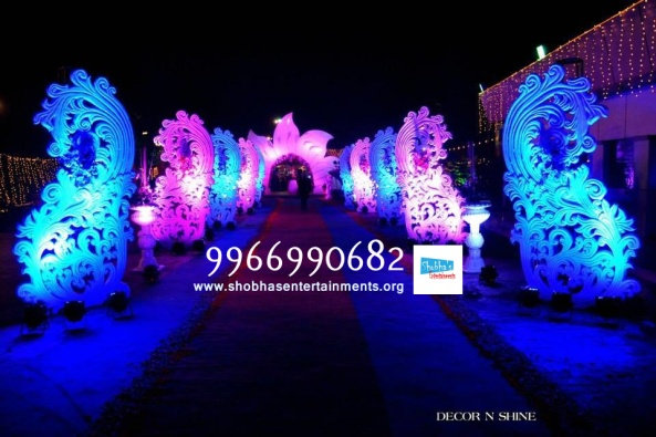 wedding stage flower and reception stage decorations in hyderabad (10)