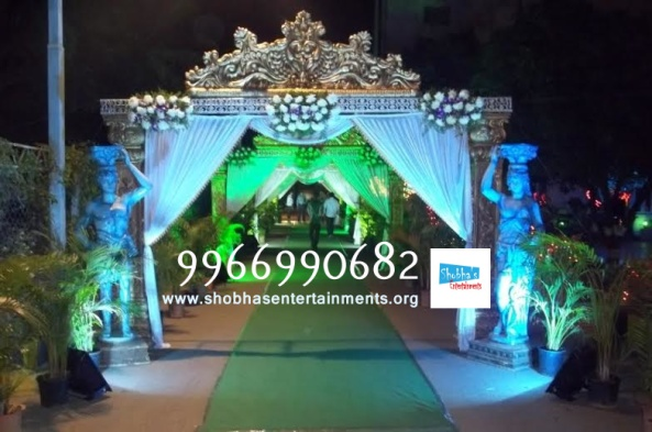 wedding stage flower and reception stage decorations in hyderabad (105)