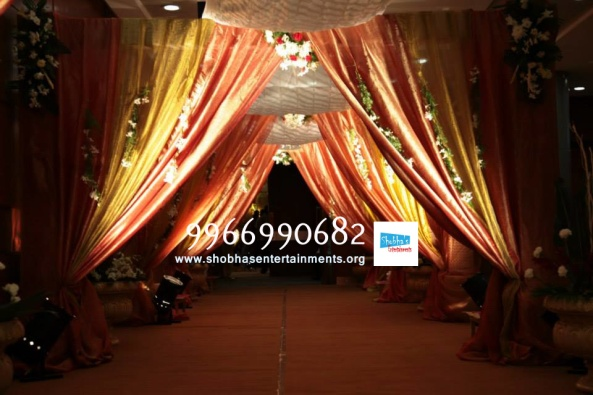 wedding stage flower and reception stage decorations in hyderabad (11)