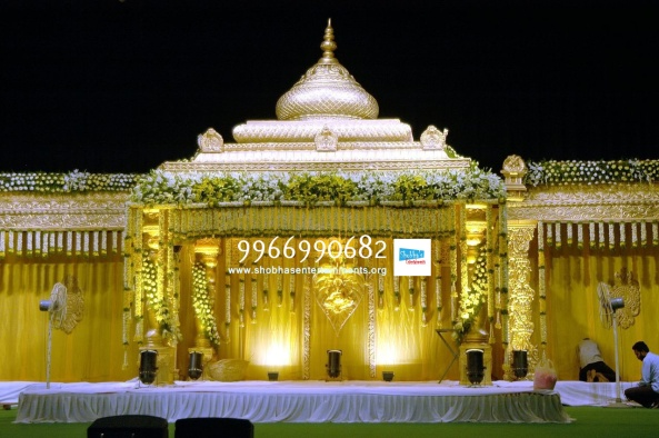 wedding stage flower and reception stage decorations in hyderabad (113)