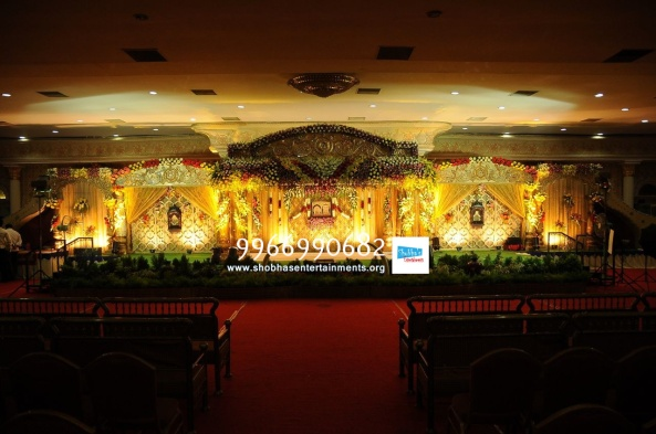 wedding stage flower and reception stage decorations in hyderabad (114)