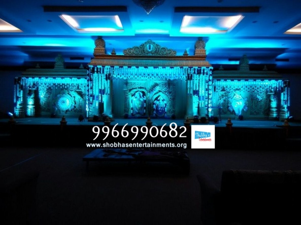 wedding stage flower and reception stage decorations in hyderabad (116)