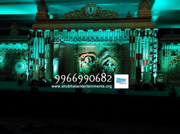 wedding stage flower and reception stage decorations in hyderabad (118)