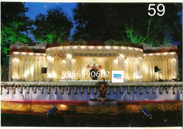 wedding stage flower and reception stage decorations in hyderabad (121)