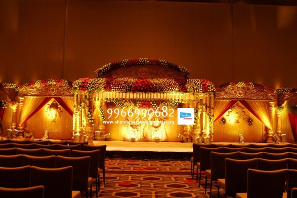 wedding stage flower and reception stage decorations in hyderabad (122)
