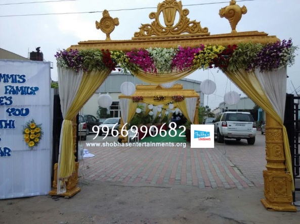 wedding stage flower and reception stage decorations in hyderabad (124)