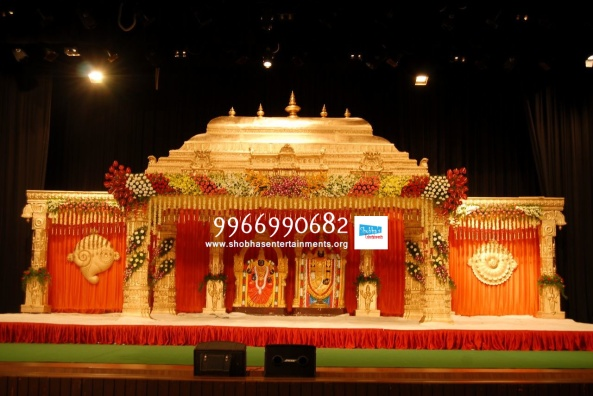 wedding stage flower and reception stage decorations in hyderabad (125)