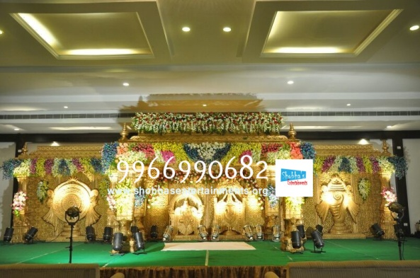 wedding stage flower and reception stage decorations in hyderabad (126)