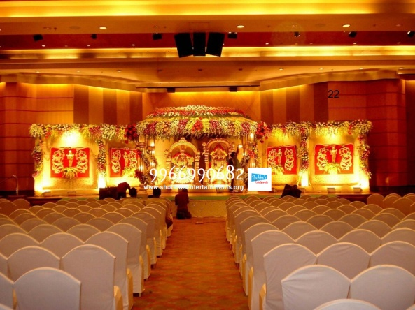 wedding stage flower and reception stage decorations in hyderabad (127)