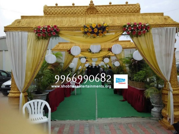 wedding stage flower and reception stage decorations in hyderabad (128)