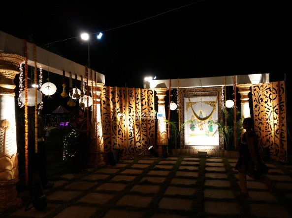 wedding stage flower and reception stage decorations in hyderabad (14)