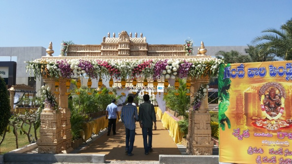wedding stage flower and reception stage decorations in hyderabad (16)