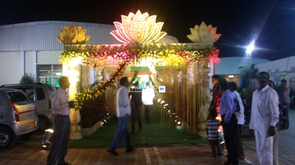 wedding stage flower and reception stage decorations in hyderabad (17)