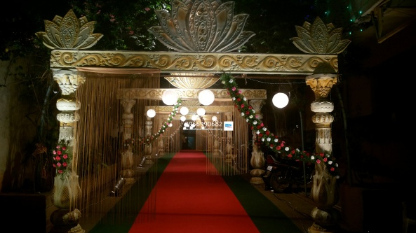 wedding stage flower and reception stage decorations in hyderabad (18)