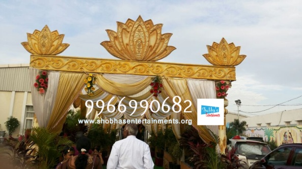 wedding stage flower and reception stage decorations in hyderabad (24)