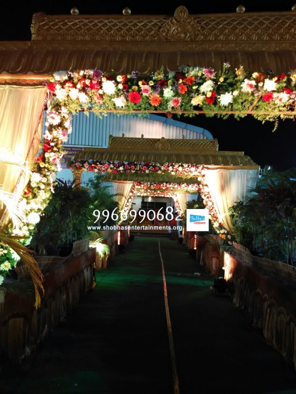 wedding stage flower and reception stage decorations in hyderabad (26)