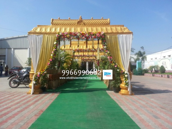 wedding stage flower and reception stage decorations in hyderabad (29)