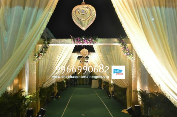 wedding stage flower and reception stage decorations in hyderabad (30)