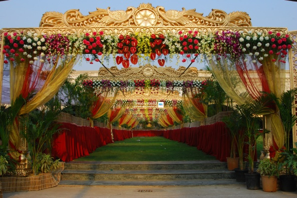 wedding stage flower and reception stage decorations in hyderabad (36)