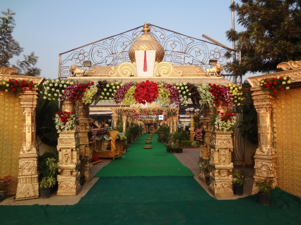 wedding stage flower and reception stage decorations in hyderabad (38)