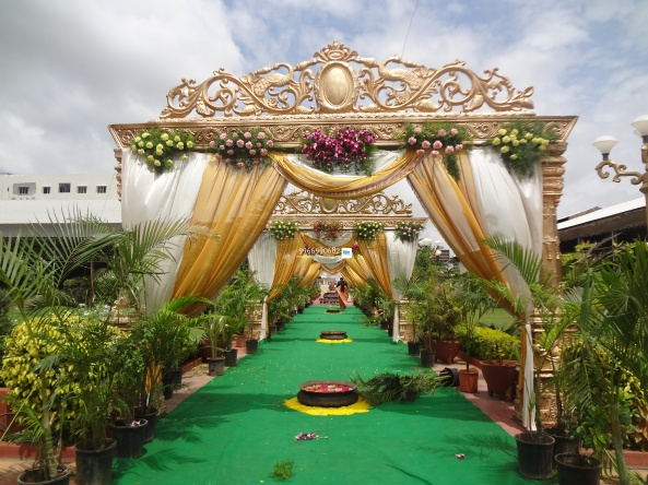 wedding stage flower and reception stage decorations in hyderabad (39)