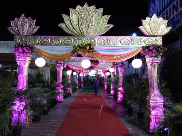 wedding stage flower and reception stage decorations in hyderabad (49)