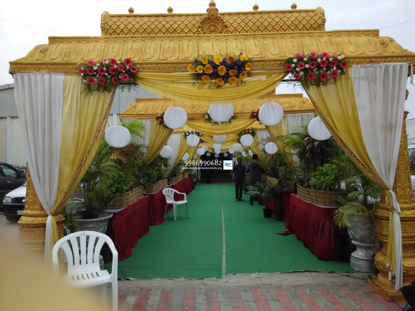 wedding stage flower and reception stage decorations in hyderabad (54)