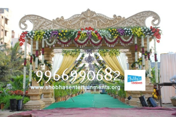 wedding stage flower and reception stage decorations in hyderabad (6)