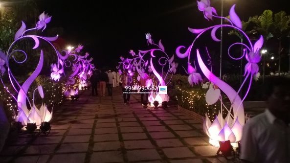 wedding stage flower and reception stage decorations in hyderabad (66)