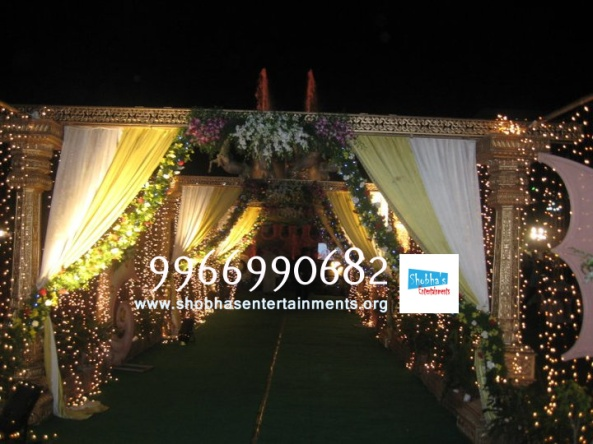 wedding stage flower and reception stage decorations in hyderabad (7)