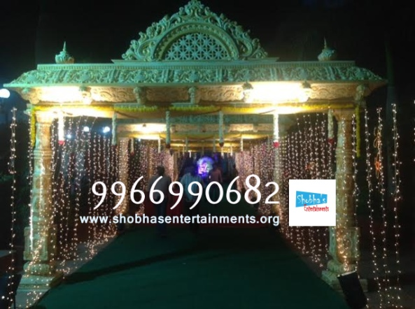 wedding stage flower and reception stage decorations in hyderabad (79)