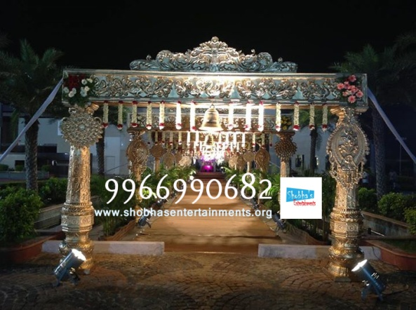 wedding stage flower and reception stage decorations in hyderabad (9)