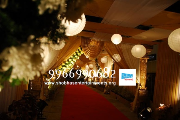 wedding stage flower and reception stage decorations in hyderabad (90)